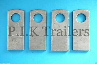 4 x Weld-on Plates for Baby Antiluce M8 Trailer Tailgate Fastener