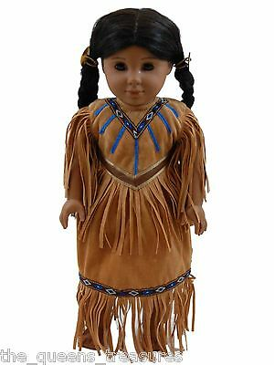 """Native American DOLL CLOTHES DRESS Outfit MADE FOR 18"""" AMERICAN GIRL CLOTHING"""