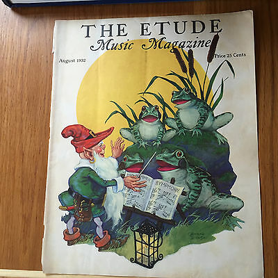 AUGUST 1932 THE ETUDE MUSIC MAGAZINE FRONT COVER BY CONRAD DICKEL