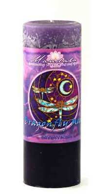 INTUITION Mandala Pillar Candle Wicca Moon Dragonfly