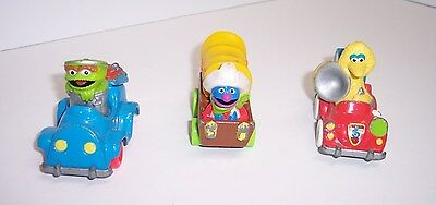 VINTAGE 1987 PLAYSKOOL SESAME STREET BIG BIRD MUSIC OSCAR TRASH GROVER WAGON CAR