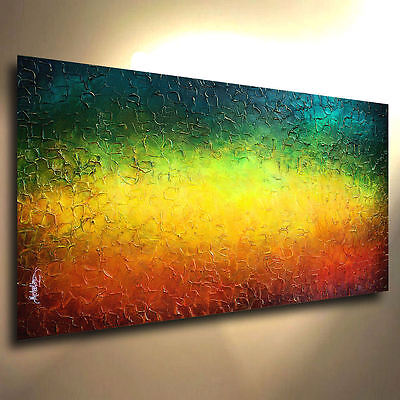 Textured  Art Abstract Painting Modern Contemporary   Large Original M.Lang cert