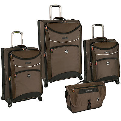 TIMBERLAND ROUTE 4 COCOA 4 PIECE SPINNER LUGGAGE SET $1360 VALUE NEW