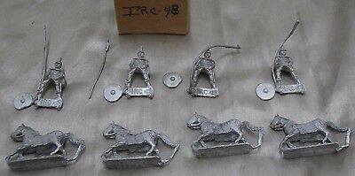 Lot of 4 25mm Minifig Horses & Ancient Armored Soldier?? IRC-48 FREE SHIPPING!!