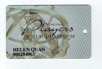 VENETIAN Casino Las Vegas SLOT CARD - Older Issue - PLAYERS CLUB PLATINUM