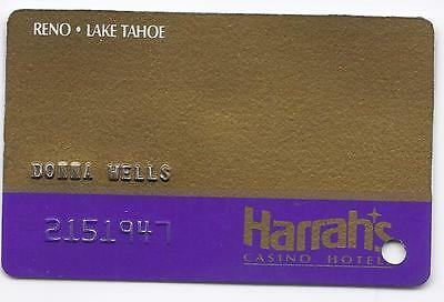 Rare SLOT CARD Players Club HARRAH'S Casino RENO LAKE TAHOE - FARADAY- 5th Issue