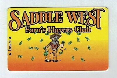 Blank SADDLE WEST Casino SLOT CARD Players Club -No Name or Numbers- 1st Issue ?