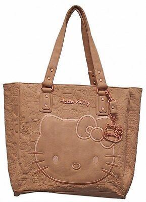 NWT Loungefly Hello Kitty Blush Embossed Faux Leather Face Satchel w/Rose Gold