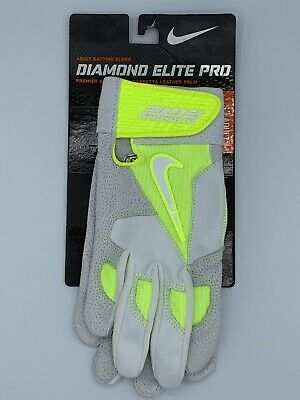 Nike Baseball Diamond Elite Pro Batting Gloves Mens Sz S Leather Vapor Softball