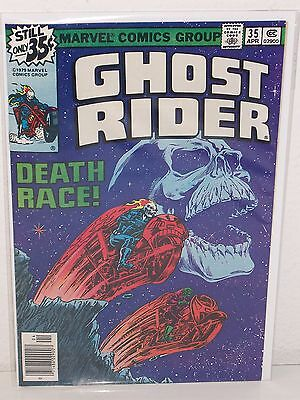 GHOST RIDER #35 - Death Race! - STRICT VF/NM - Bronze Age - MARVEL