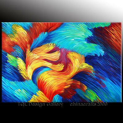 """36"""" """"Blooming"""" Artist Signed Original Modern Abstract Art Oil Painting On Canvas"""