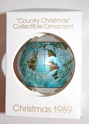 Schmid Country Christmas Ball Ornament 1989 Collectible 4th Edition Lowell Davis