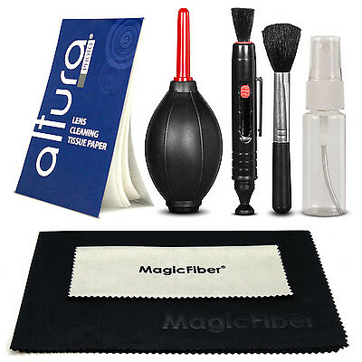Professional Cleaning Kit Blower Tissue Pen & MagicFiber Cloth for DSLR Camera
