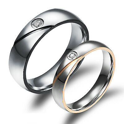 His& Her Stainless Steel True Love Waits Ring Engagement  Wedding Band For Lover