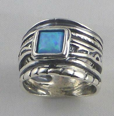 RING Ladies 925 Sterling Silver -  BLUE OPAL ( by Shablool )