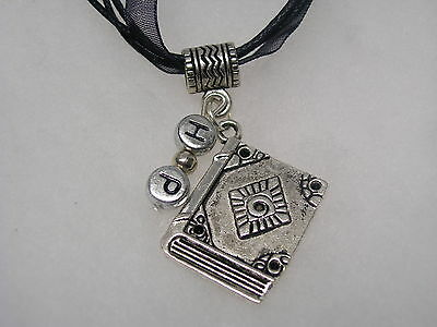 Harry Potter Inspired Necklace ( Book of Spells) With HP Letters