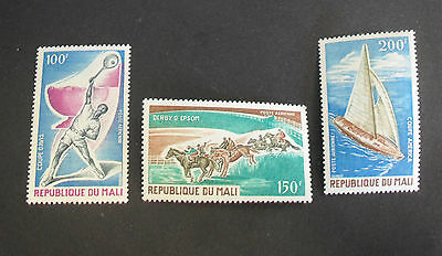 OLYMPIC SPORT HORSE RACING SET FRANCE MALI 100FR-200FR VF MNH A30.41 LOW START
