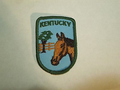 Vintage Kentucky State Travel Souvenir Embroidered Iron On Patch Horse