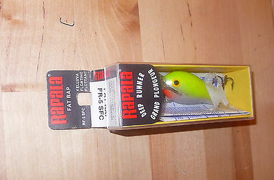 RAPALA FAT RAP FR-5-SFC OVAL LABEL FINLAND NEW IN BOX