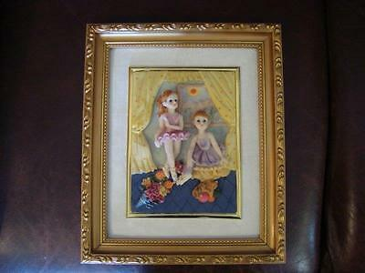 POSH ITALY DESIGN BALLERINA DANCING GIRLS PICTURE GREAT FOR ANY COLLECTION!