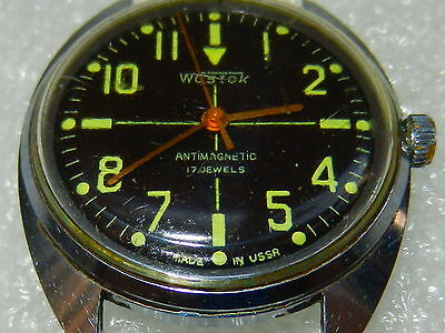 VTG Russian Soviet !! VOSTOK WATCH KOMANDIRSKIE СССР military Commander OLD NAVY