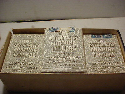 ~VERY RARE~CIRCA AUGUST 1894~  VINTAGE FORTUNE TELLING MILITARY CARDS, SEALED