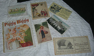 Vintage Books and Papers on Three Little Pigs.