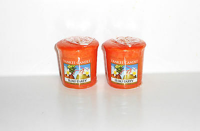 YANKEE CANDLE VOTIVE LOT OF 2 ~ NEW SEALED ~ VOTIVES ~ LUAU PARTY ~