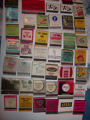Antique Vintage Lot of 133 assorted Match Book Collection ~RARE~ low phone#