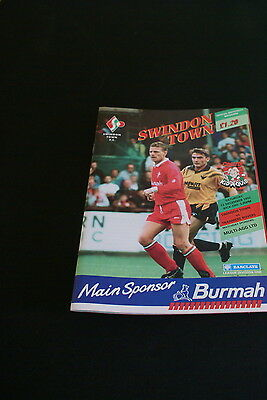 Swindon Town V Tranmere Rovers 12 December 1992