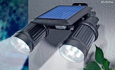 Solar Powered Security Two Super Bright Spot LED Lights with Motion Detector