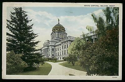 STATE CAPITOL HELENA MONTANA  POSTCARD POSTMARKED LIVINGSTON MONT. FEB 12, 1942