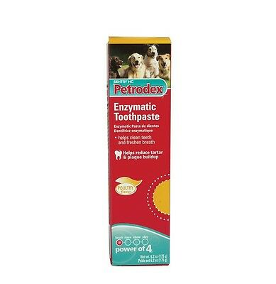 Petrodex Toothpaste for Dogs Poultry Flavor - 6.2 oz - Reduce plaque & tartar