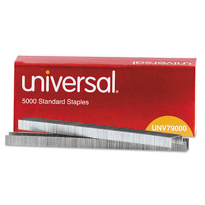 Universal Standard Chisel Point 210 Strip Count Staples, 5000/Box - UNV79000