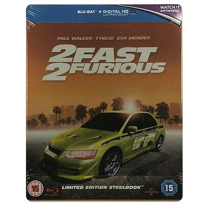 2 Fast 2 Furious Steelbook - UK Exclusive Limited Edition Blu-Ray