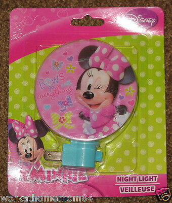 NEW! Minnie Mouse Kids Plug in Night Light Disney Bows Go with Everything L@@K!!
