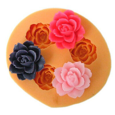3D Rose Flower Silicone Chocolate Fondant Cake Candle Soap Modelling Mold Mould