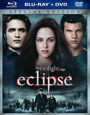 The Twilight Saga ECLIPSE Blu-Ray + DVD Both Versions on 1 Disc BRAND NEW SEALED
