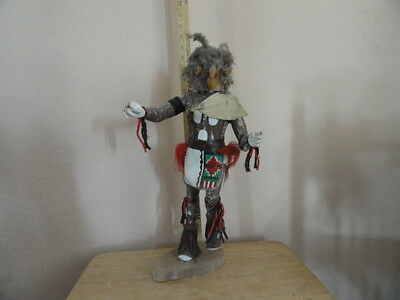 Native American Hand Carved Kachina Doll 18 Inch Tall Signed