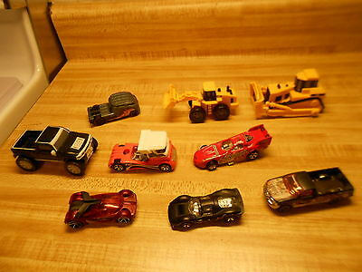 toy cars hotwheels misc lot of 9 toy cars/trucks various names hot wheels