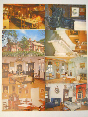 Lot Of 8 Different Vintage Post Cards Longfellow House Cambridge MA. 1960's?