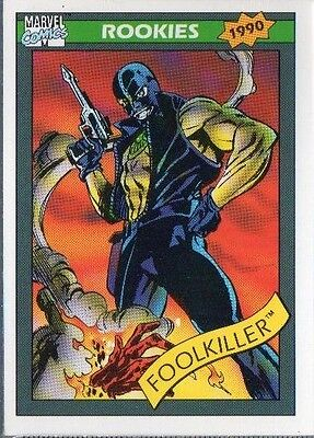 FOOLKILLER 1990 MARVEL COMICS IMPEL CARD # 87 ROOKIE CARD