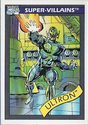 ULTRON 1990 MARVEL COMICS IMPEL CARD # 61