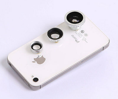 3in1 Fisheye Lens ,Wide Angle, Micro Lens photo Kit Set for iPhone 4 4S 5