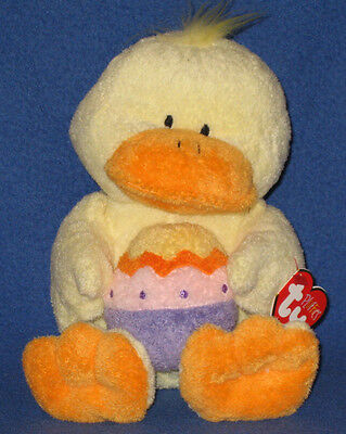QUACKIES the DUCK - TY PLUFFIES - MINT with MINT TAG