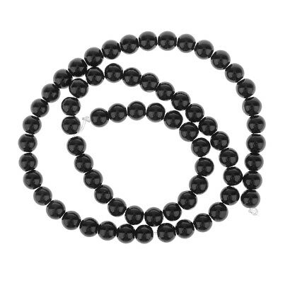 Strand of Black Onyx Round Gemstone Loose Beads for DIY Jewelry Making 4mm -12mm