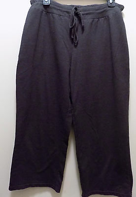 Women's C9 French Terry Capri Athletic Sleep Pants French Terry Gray Large