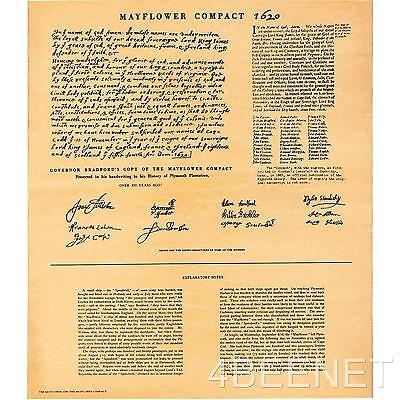 MAYFLOWER COMPACT document, looks and feels old, poster rolled NEVER folded!