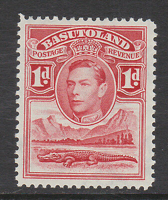 BASUTOLAND 1938 1d SCARLET WITH 'TOWER FLAW' SG 19a MINT.