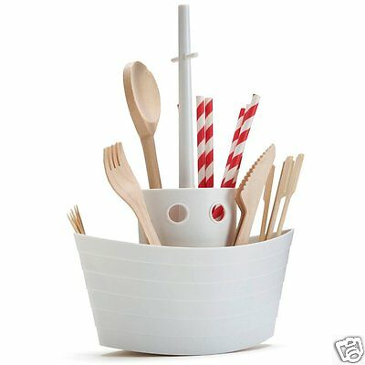 Cutlery Holder Display Table Dinner Decor Serving napkin Boat by Monkey Business